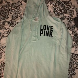 Tiffany blue color hoodie from Pink